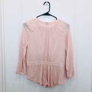 Banana Republic Pink Back Zipper Blouse S
